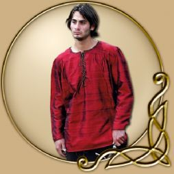 Costume -Red Shirt with Leather Lacing